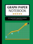 5x5 Graph Ruled Composition Notebook: 100 Pages, 5x5 Graphing Grid Paper, Green (Extra Large, 8.5x11 in.) Cover Image