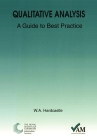 Qualitative Analysis: A Guide to Best Practice (Valid Analytical Measurement #6) Cover Image