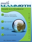 Math Mammoth Grade 4-A Worktext Cover Image
