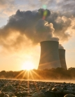 Notebook: nuclear power plant cooling tower pollution energy radiation Cover Image