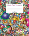 Graph Paper Notebook: Hearts; 5 squares per inch; 50 sheets/100 pages; 8 x 10 Cover Image