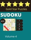 Gold Star Puzzles sudoku Levels 400 Volume-4: Tips, and techniques, and math skills with puzzle how to solve magic for Adults Cover Image