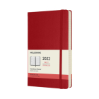 Moleskine 2022  Daily Planner, 12M, Large, Scarlet Red, Hard Cover (5 x 8.25) Cover Image
