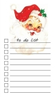 To Do List Notepad: Vintage Santa, Checklist, Task Planner for Christmas Shopping, Planning, Organizing Cover Image