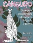 Libros para colorear para adultos para bolígrafo y lápices - Mandala - Animales - Canguro Cover Image