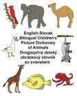 English-Slovak Bilingual Children's Picture Dictionary of Animals Cover Image
