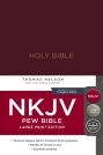 NKJV, Pew Bible, Large Print, Hardcover, Burgundy, Red Letter Edition Cover Image