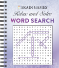 Brain Games - Relax and Solve: Word Search (Purple) Cover Image