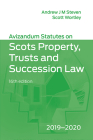 Avizandum Statutes on the Scots Law of Property, Trusts & Succession: 2019-2020 Cover Image