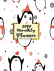 Monthly Planner 2020: Organizer To do List January - December 2020 Calendar Top goal and Focus Schedule Beautiful background Monthly and Wee Cover Image
