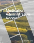Medication Administration Record: Large Print - Daily Medicine Tracker Notebook- Undated Personal Medication Organizer #x74 Cover Image