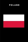 Poland: Country Flag A5 Notebook to write in with 120 pages Cover Image