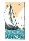 Sail on (Boxed): Boxed Set of 6 Cards Cover Image