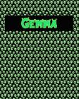 120 Page Handwriting Practice Book with Green Alien Cover Gemma: Primary Grades Handwriting Book Cover Image