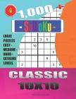 1,000 + Sudoku Classic 10x10: Logic puzzles easy - medium - hard - extreme levels Cover Image