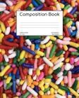 Composition Book: Sprinkles; wide ruled; 100 sheets/200 pages; 8 x 10 Cover Image