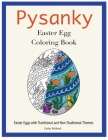 Pysanky Easter Egg Coloring Book: Easter Adult Coloring Book Cover Image
