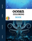 Ocean Coloring Book: Ocean Creatures Coloring Book for Adults Cover Image