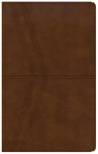 NKJV Ultrathin Reference Bible, Brown Deluxe LeatherTouch Cover Image