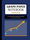 5x5 Graph Ruled Composition Notebook: 100 Pages, 5x5 Graphing Grid Paper, Navy Blue (Extra Large, 8.5x11 in.) Cover Image