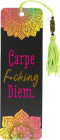 Carpe F*cking Diem Beaded Bookmark Cover Image