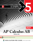 5 Steps to a 5: AP Calculus AB 2021 Cover Image