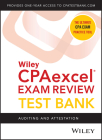 Wiley Cpaexcel Exam Review 2020 Test Bank: Auditing and Attestation (1-Year Access) Cover Image