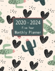2020-2024 Five Year Monthly Planner: 60 Month Calendar Cactus and Heart Cover Image
