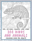 200 Birds and Animals - Coloring Book for adults - Deer, Red panda, Squirrel, Lion, other Cover Image