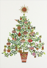 Yuletide Tree Small Boxed Holiday Cards Cover Image