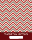 Composition Notebook: College Ruled - Geometric Red - Back to School Composition Book for Teachers, Students, Kids and Teens - 120 Pages, 60 Cover Image
