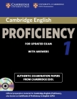 Cambridge English Proficiency 1 for Updated Exam Self-Study Pack (Student's Book with Answers and Audio CDs (2)): Authentic Examination Papers from Ca (Cpe Practice Tests) Cover Image