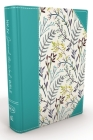 NKJV, Journal the Word Bible, Hardcover, Blue Floral Cloth, Red Letter Edition: Reflect, Journal, or Create Art Next to Your Favorite Verses Cover Image