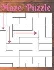 Maze Puzzle: wander explore the maze puzzle from moderate to tough levels for fun stress relief and relaxation, 150 mazes for adult Cover Image