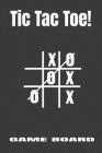 Tic Tac Toe Game Board: Notebook Cover Image