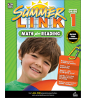 Math Plus Reading Workbook: Summer Before Grade 1 (Summer Link) Cover Image