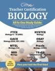 Teacher Certification Biology All-in-One Study Guide: Comprehensive Preparation with Practice Test Questions for the GACE (026, 027, 526), MTEL (13), Cover Image