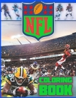NFL Coloring Book: The Ultimate Football Coloring, Stats and Activity Book for Adults and Kids! Cover Image