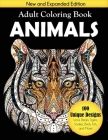 Animals Adult Coloring Book: 100 Unique Designs Including Lions, Bears, Tigers, Snakes, Birds, Fish, and More! Cover Image
