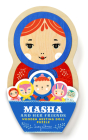 Masha and Her Friends Wooden Nesting Doll Puzzle Cover Image