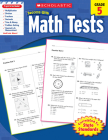 Scholastic Success With Math Tests: Grade 5 Workbook Cover Image