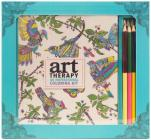 Art Therapy: An Inspirational Coloring Kit (Deluxe kit with pencils) Cover Image
