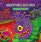 Dungeons & Dragons Adventures Outlined Coloring Book Cover Image