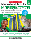 Informational Texts for Striving Readers: Grade 3: 30 High-Interest, Low-Readability Passages With Comprehension Questions Cover Image