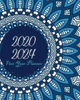 2020-2024 Five Year Planner: Bluesky Mandala, Monthly Schedule Organizer, 60 Month Calendar Planner Agenda with Holidays Cover Image