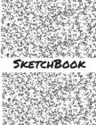 Sketch Book: 8.5 X 11 Large Sketch Book, Black and White Marble Cover, Blank Book for Drawing, Sketching, Doodling, Writing (Notebo Cover Image