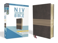 NIV, Thinline Bible, Giant Print, Imitation Leather, Brown/Tan, Red Letter Edition Cover Image