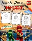 Lego Ninjago How to Draw: How to Draw Ninja, Villains, 25 Most Powerfull Ninjas, 2in1 Ninjago Coloring Book Cover Image