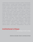 Institutional Critique: An Anthology of Artists' Writings Cover Image