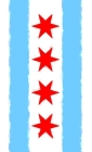 Chicago Flag Watercolor Journal Cover Image